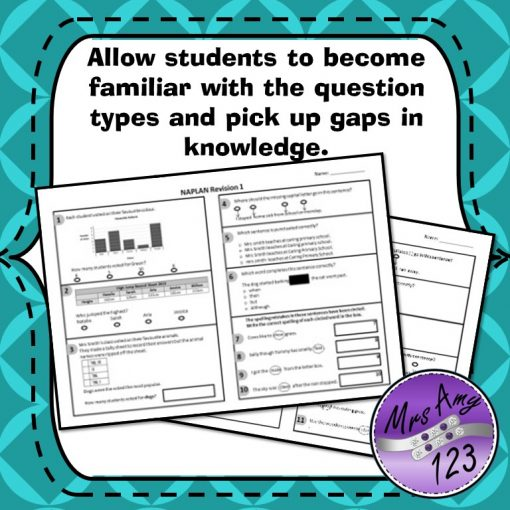 Year 3 Naplan Revision Quizzes Allow Students to become familiar with the question types and pick up the gaps in knowledge