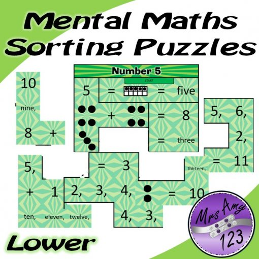 Mental Maths Sorting Puzzle -Lower Mrs Amy123