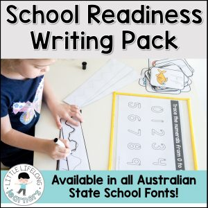 Get your child ready for school with these simple pre-writing, number, letter and alphabet printables! Available in all Australian State School fonts, your preschool or Kindy child will be ready for school in no time!