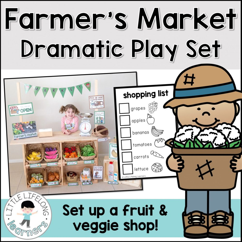 Set up a Farmer's Market or Fruit and Veg shop in your dramatic play and imaginative play space   fruit and vegetable dramatic play printables   Imaginative play ideas for toddlers, preschoolers and kindergarten children   Posters, signs, labels and printables   Role play in the early years classroom   Australian teachers and parents   Play-based, age appropriate pedagogies   Printables for Prep and Foundation   Healthy choices and eating lesson ideas  