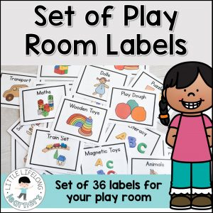 Play room labels for your toy room | Organisation ideas for your play room | Toy rotation storage and organizing tips and tricks | Play room storage and decor