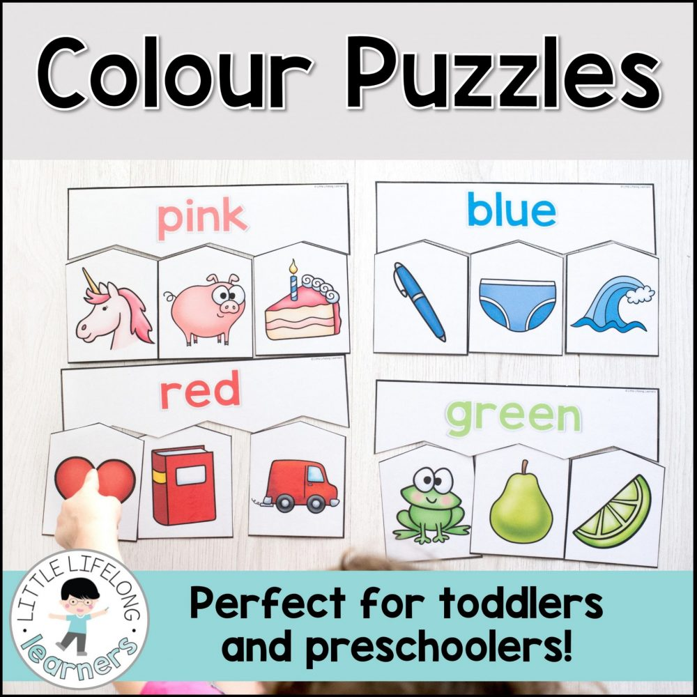 Explore colours with these fun, simple colour puzzles! Perfect for preschool kids, toddlers and homeschool use, your little learners will love the bright pictures on each piece. They're the perfect printable for colour recognition activities with your children!