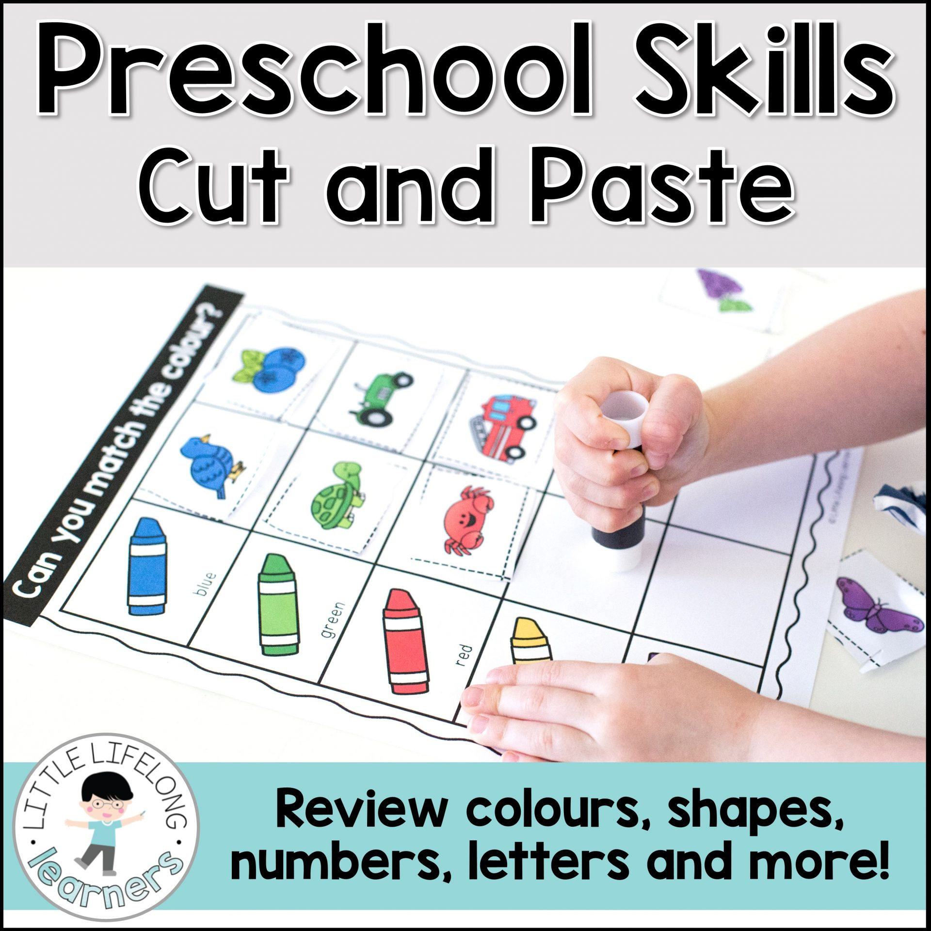 Preschool Sorting Skills - Cut and Paste Activities - The ...