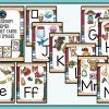 Classroom Themed Alphabet Posters with Pictures- Ideal for Bulletin Boards
