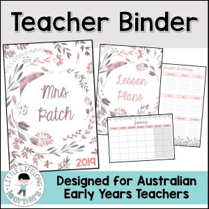 Get organised with this teacher planner for educators in Australia! Includes binder covers (which are editable) and fill in forms and pages to handwrite and take notes on! Perfect for your weekly classroom organisation and planning for Australian Prep, Foundation, Preschool and Kindergarten teachers!